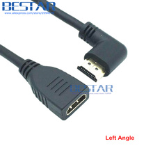 Up Down Left Right Angled HDMI 2.0 A male to female 4K*2k 60Hz HD HDMI 2.0v angle extension cable HDMI2.0 15cm 60cm 1.8m 6FT 2FT