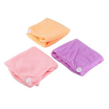 Microfibre After Shower Hair Drying Wrap Towel Quick Dry Hair Hat Cap Turban Drop Shipping(China)