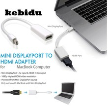 Kebidu Mini DisplayPort Display Port DP к HDMI Кабель-адаптер для Apple MacBook Pro воздуха мини iMac для Microsoft Surface pro(China)