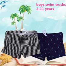 2017 New pure color big boys trunks  baby summer beach pants children clothes anchor strip solid color kids shorts boys trousers