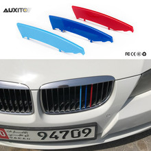 3D ABS Car Sticker Front Grille Sport Stripe Cover Motorsport Power Performance For BMW 3 Series E90 2004 To 2008 Car Styling