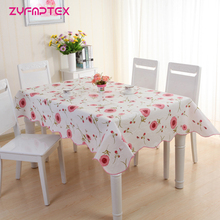 ZYFMPTEX 2017 New Arrive Table Cloth Waterproof Oilproof 137x180cm Print PVC Tablecloth Dining Kitchen Table Protector Covering