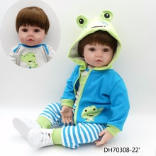 NPK Kid Doll Reborn-Toys Brinquedos Bonecas Toddler Baby Bebes Lifelike for Gifts 47CM