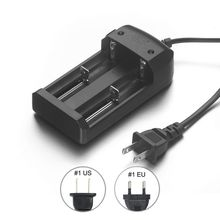 20pcs Universal Battery Charger Travel Dock Dual 18650 Charger US Plug For CR123A 16340 14500 26650 Li-ion Rechargeable Battery(China)