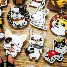 Acrylic bulldog Husky superman woman brooches wholesale Fashion dogs / CAT Charm Costume Brooch Pins for girl brooch badge GIFT