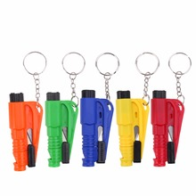3 in 1 Pocket Auto Glass Window Breaking Safety Hammer Emergency Escape Rescue Tool with Keychain Seat Belt Knife Cutter(China)