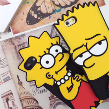 ZUCZUG for iPhone 7 6 6S Plus Funny Cartoon Case Cute Simpson Hart Lisa Beer 3D Soft Silicone Protective Back Phone Cover