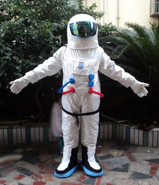 2017 Hot Sale ! High Quality Space suit mascot costume Astronaut mascot costume with Backpack with LOGO glove,shoesFree Shipping(China (Mainland))