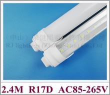 R17D LED tube light lamp SMD 2835 LED fluorescent light tube T8 2400mm 2.4M R17D SMD2835 192 led 4800lm 40W AC85-265V