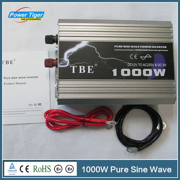 TBE 1KW Hot Sale Car Power Inverter DC 12V To AC 220V 1000W Pure Sine Wave Power Inverter For Cars<br><br>Aliexpress