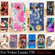 For Nokia Lumia 730 735 case Hard Plastic Cellphone Mask Case Protective Cover Housing Skin Shippin g Free