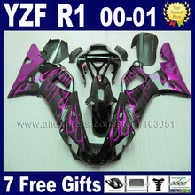 Custom fairing kits for 2000 2001 YAMAHA R1 00 01 YZF R1 fairings aftermarket YZF1000 little flame body repair parts(China)