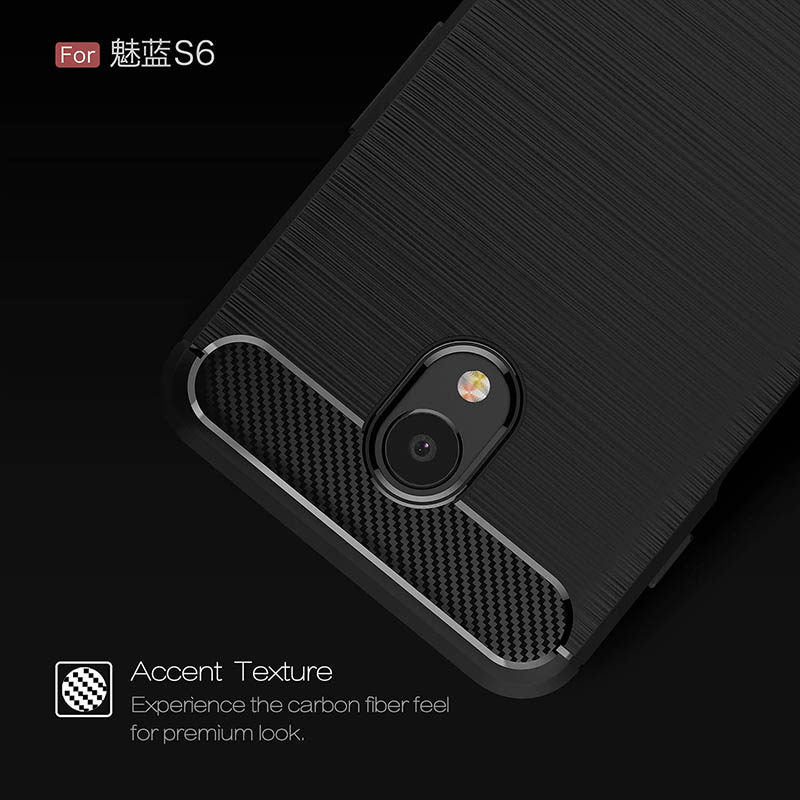 carbon fiber brushed silicone case meizu m6s (3)