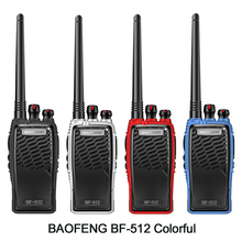 New Baofeng BF-512 Professional Walkie Talkie 5W Portable Two Way Radio UHF 400-470MHz Pofung PTT Interphone With Headset 2pcs