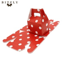 BITFLY 12pcs Paper Candy Box stripe polka dot chevron gift bag Chocolate Packaging Children Birthday Party Wedding Decor Favors