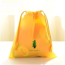 1pc Yellow Tree Cartoon Drawstring Pouch Travel Bags Clothes Storage Finishing Luggage Bags Waterproof Clothing Bag Shoe Bag