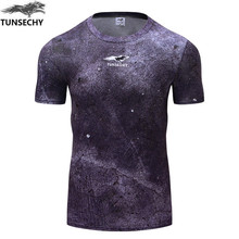 Cycling jerseys Brand 2017 Male tshirts Digital cyclinging lunar surface Short sleeve hot mens tights T-shirt Tops(China)