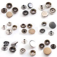 15PCS Brass Snap Fastener Press Stud Rivet Sewing Leather Button Craft For Clothes Garment DIY Decoration Accessory 12/15/17mm(China)