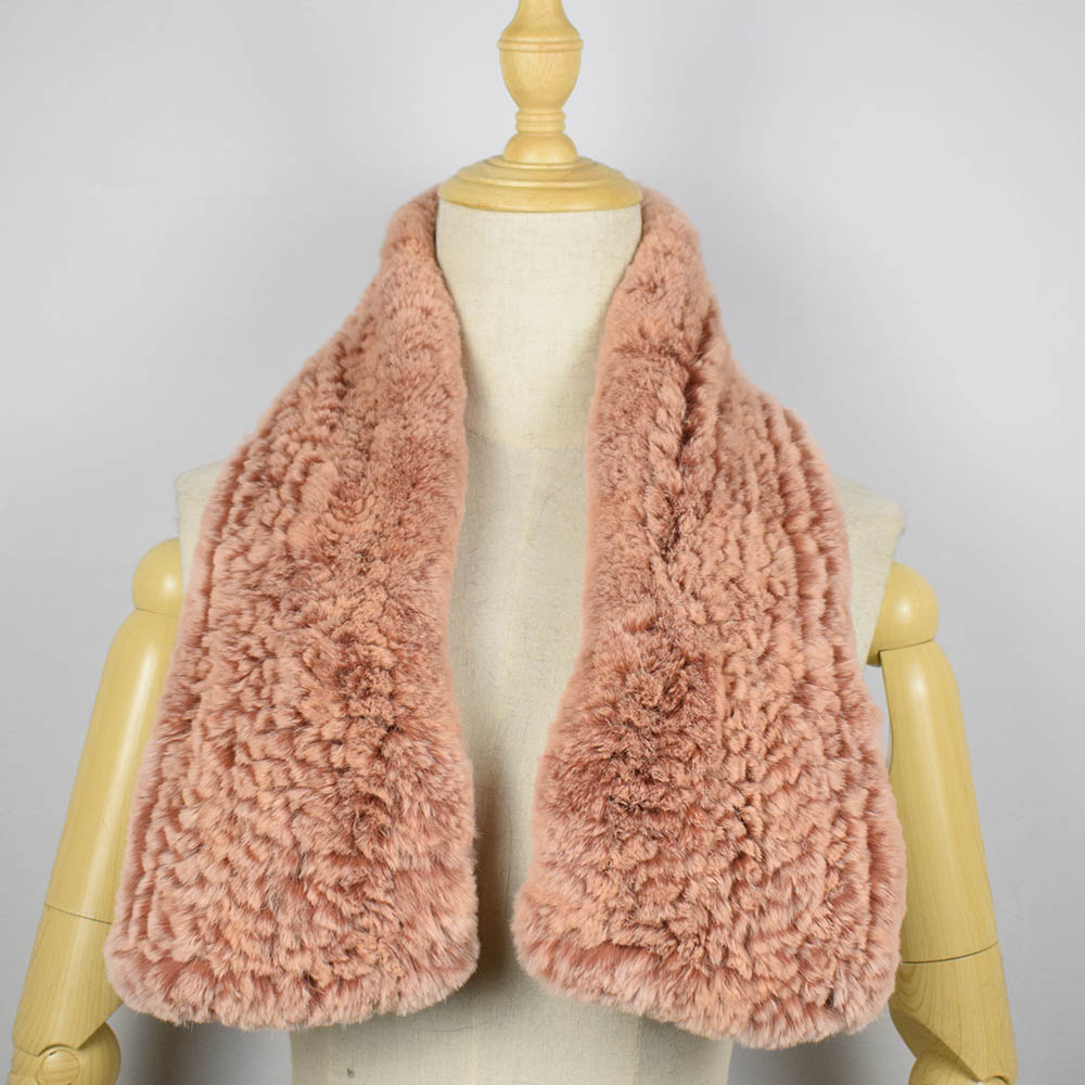 rex rabbit fur scarf short 14