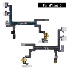 New Original Switch Power Button ON OFF Flex Cable Ribbon For iPhone 5 5G Mute Silence Volume Button Key Repair Part(China)