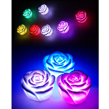 LED Romantic Rose Flower Colorful Changed Light Lamp Glow in the Dark Kids Toy Xmas Gift Home Party Decor Light Lamp Night Light(China)