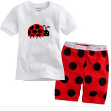 Childrern Clothes Baby Pajamas Tortoise Bee Ladybird Animal Design Pijamas 2 Pcs Sets For Girls Pyjama Sets Top + Pants