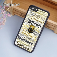 MaiYaCa Hufflepuff Hogwarts Harry Potter fashion soft mobile cell Phone Case Cover For iPhone 6 6S Custom DIY cases luxury shell(China)