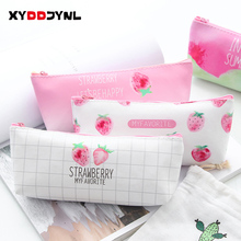 Creative Stationery PU Pencil Bag Cute Strawberry Student School Bags for Children Pencil Pouch High Capacity Estuche Escolar
