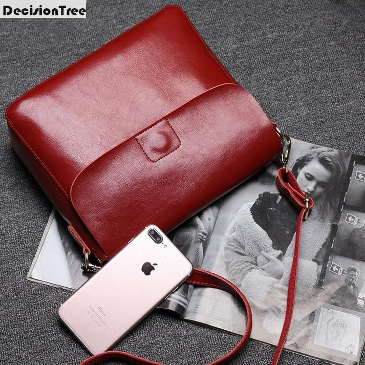 New Arrive Women Handbags Minimalist Design Flap Bags Solid Zipper Crossbody Bags Genuine Leather Shoulder Bags Messenger Bags<br>