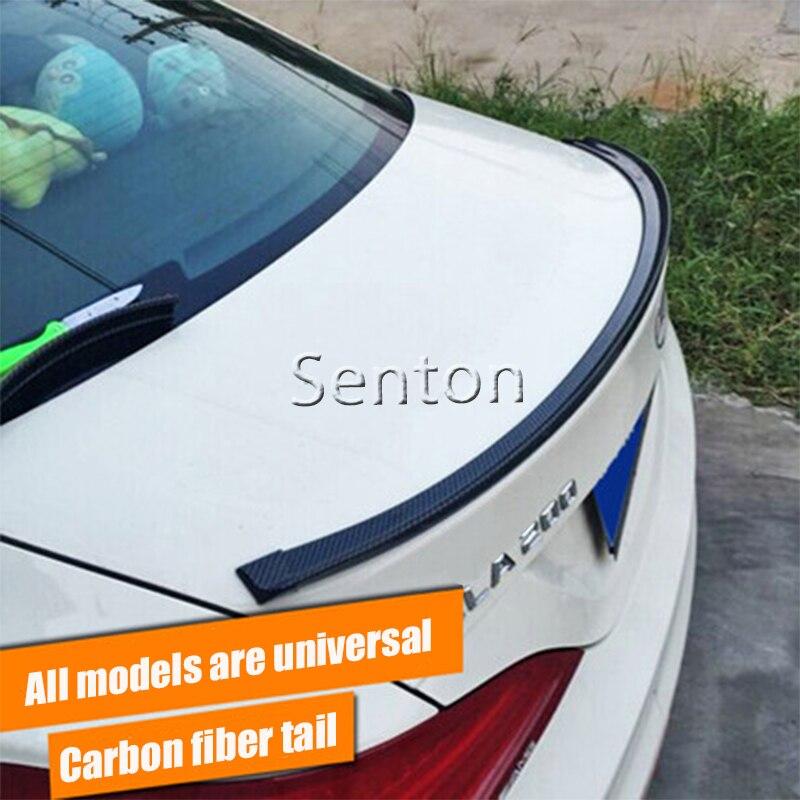 Car Carbon Fiber Spoilers Sticker For Opel Astra H J G Insignia Mokka Corsa D Vectra C Zafira Meriva For Seat Leon Ibiza Altea<br>