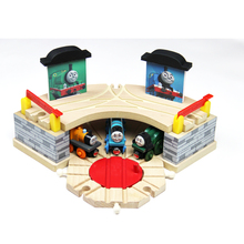 Timmouth Room Garage Wood Track With Clock Train Slot Railway Accessories Original Toy For Kids -Thomas and Friends