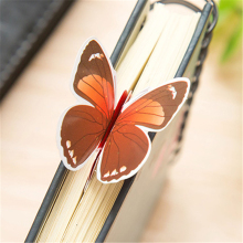 Cute Kawaii Lovely Paper Painted Bookmark Vintage Bookzzi 3D Butterfly Book marks korean Stationery  Free shipping 706