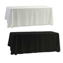 Hot Nappe table cloth White for rectangle Banquet Wedding Party Decor 145x145cm table cover