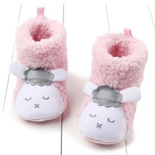 Very Lovely Sheep Panda Velvet Unisex Baby Boots Newborn Warm Baby Boys Girls First Walker Shoes Kids Soft Home Shoes Size 3 4 5