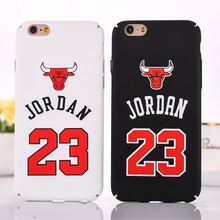 Case for iPhone 6 6S Plus NBA brand Michael Jordan 23 fundas PC Hard Mirror Phone Case Cover for iPhone 6s 6 Plus 5 5s SE Cover