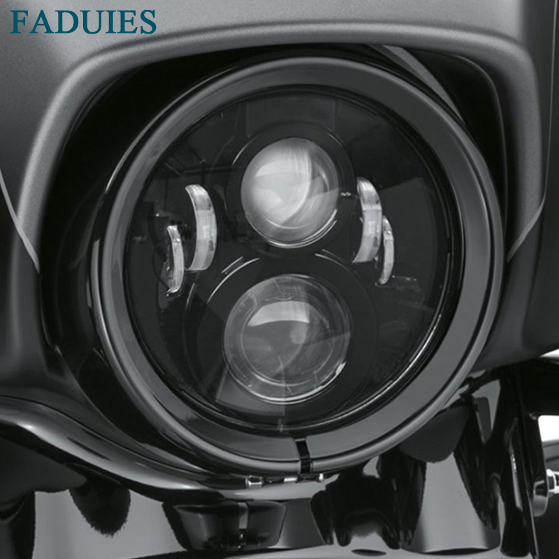 FADUIES 7inch Black LED Daymaker Headlight For Harley Davidson Motorcycle Tour,FLD,Softail Heritage,Street Glide,Road King (1)1