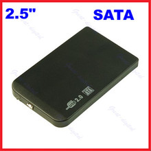 "Bag + Data Cable +Aluminum Magnesium Alloy 2.5"" SATA HDD USB 2.0 External Box Hard Disk Driver Caddy Enclosure Box"