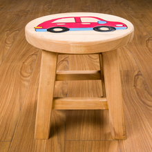 Taburetes Wooden Modern 2017 Hot Sale Real Porcelain Pouf Poire Chair Practical Small Stool Children Cartoon Wood Baby Shoes
