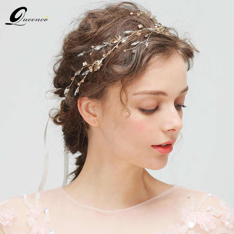 Girl Large Flower Floral Bridal Headband Hairband Wedding Party Vine Hair Band