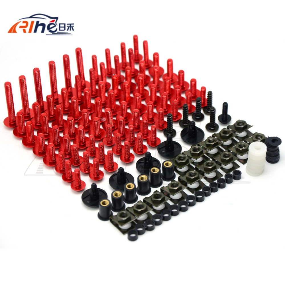 A new set of  Motorcycle Accessories 7colors Fairing Bolts Screw Aluminum for Yamaha XT660R XT660X SuperMotard 2004-2008<br>
