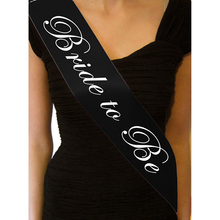 1pcs High Quailty Party Supplies Black Hen Party Sashes Bride to Be Sash Bride Party Wedding Decoration