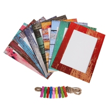 6 / 7inch Creative DIY Photo Wall Picture Display Frame Wood Frame / Time Style Craft Paper Mural Hanging Album Combination Set(China)