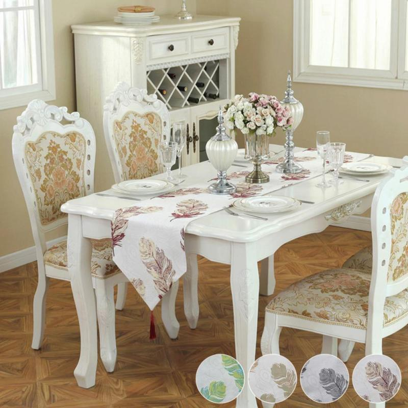 Modern White Dining Table Runner Restaurant Hotel Banquet Table Cloth  Decoration Pad Cloth Coffee Fabric Flag V3 Table Linen Uk Table Linens From  ...