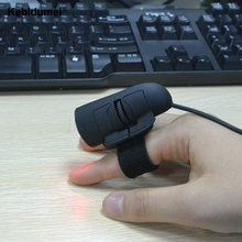 Mini Professional 3D Optical Finger Mouse Ergonomic Wired Mouse Mice Showcase Comfort Simplicity 1200 DPI Laptop PC Computer(China)