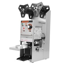 (Ship from US) Automatic Cup Sealing Machine Stainless Steel Drinking filling Sealing for Tea Juice estate bubble 90-95mm