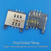 10pcs/lot Original new replacement for sim card reader for Blackberry 9720 connector socket slot top quality