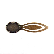 5pcs/lot 18x25mm Antique Bronze Brass Oval Cameo Cabochon Base Setting Bookmark bookmark calendar