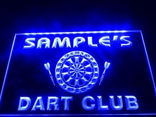 DZ030- Name Personalized Custom Dart Club Bar Beer  LED Neon Light Sign
