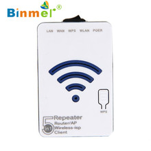 Binmer 2017 Freeshiping   300Mbps 2T2R 802.11b/g/n Mini Wireless Wifi Router AP Repeater Booster Expander  Sep 20