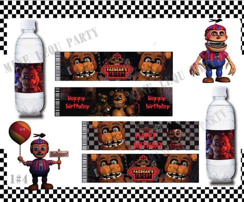 "6PCS Five Nights at Freddy/'s 12/"" Colorful FNAF Printed Latex Party Balloons."